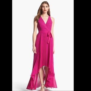 Fuchsia hi- low dress